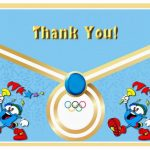 Olympics Thank you Cards
