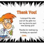 Science Thank you Cards