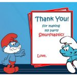 Smurfs Thank you Cards