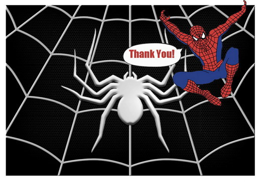 Spiderman Thank You Cards Birthday Printable