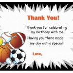 Sports Thank you Cards