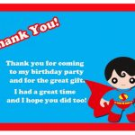 Superman Thank you Cards