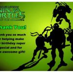 Teenage Mutant Ninja Thank you Cards