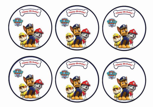 picture about Free Printable Thomas the Train Cup Cake Toppers titled Paw Patrol Cupcake Toppers Birthday Printable