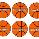Basketball – Cupcake Toppers