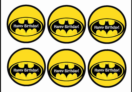 Inventive image within batman cupcake toppers printable