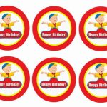 Caillou – Cupcake Toppers