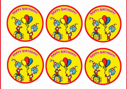 Awesome Dr Seuss Cupcake Toppers Birthday Printable Personalised Birthday Cards Epsylily Jamesorg