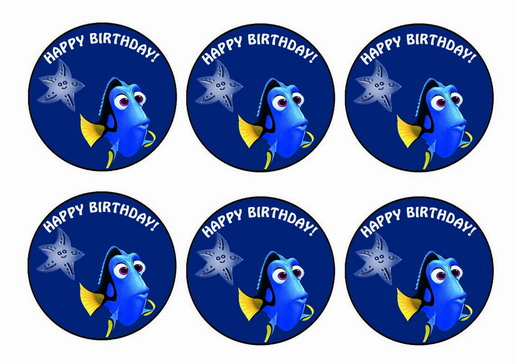 Finding Nemo Cupcake Toppers Birthday Printable