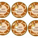 Giraffe – Cupcake Toppers