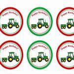 John Deer Tractor – Cupcake Toppers