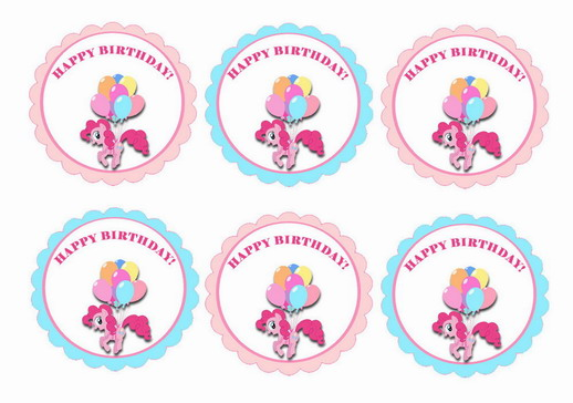 My Little Pony – Cupcake Toppers   Birthday Printable