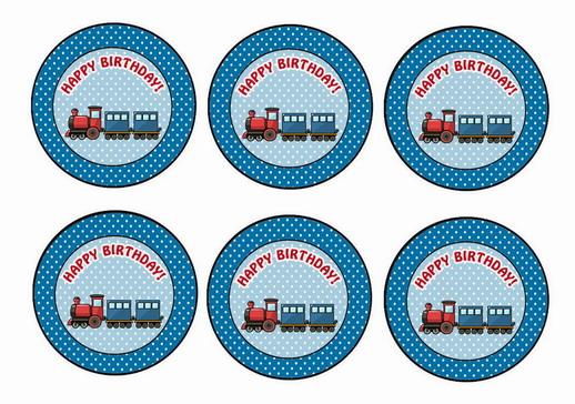 Train – Cupcake Toppers | Birthday Printable