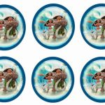 Moana – Cupcake Toppers