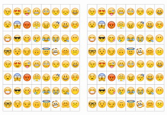 Emoji Stickers Birthday Printable