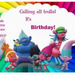 Trolls Holiday Birthday Invitations