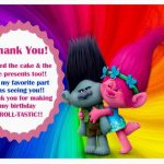 Trolls Holiday Thank you Cards